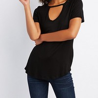 Cut-Out Boyfriend Tee | Charlotte Russe