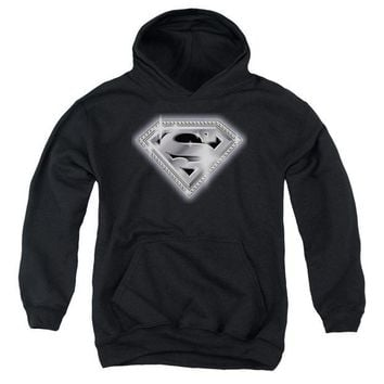 ac NOOW2 Superman - Bling Shield Youth Pull Over Hoodie