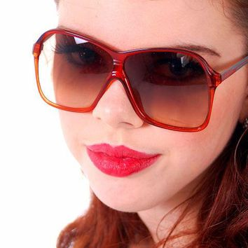 Vintage Carrera Aviator Glasses Red Ladies Model 5536 31 1980s