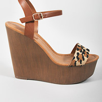 Emily Leopard Wedge