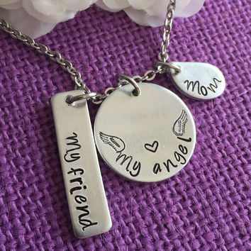 Memorial Jewelry Necklace - Memorial Jewelry - Sympathy Gift - Loss of Loved One - Mom Memorial - Remembrance Necklace - Personalized Jewel