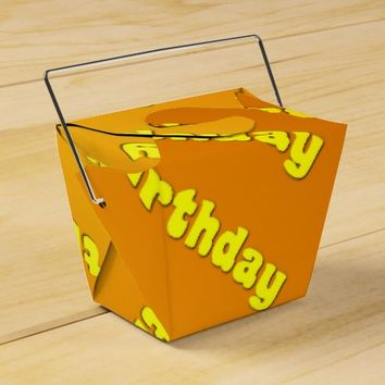 Birthday (yellow) favor box