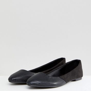 Oasis Pointed Toe Flat at asos.com