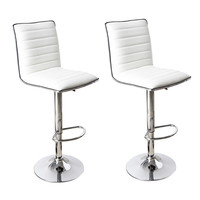 Goobies White Swivel Bar Stools (Set of two)