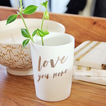 Love You More Votive Holder