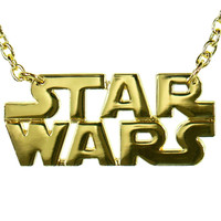 Star Wars - Logo Gold Necklace