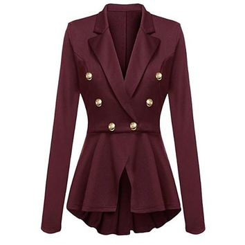 [15493] Peplum Military Jacket