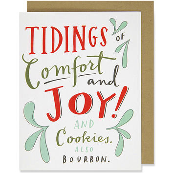 cookies and bourbon holiday card