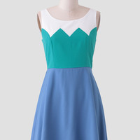 Pebble Lane Colorblock Dress