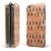 Igneous Black Tribal Arrow Pattern iPhone 6/6s or 6/6s Plus 2-Piece Hybrid Candy Shell Case
