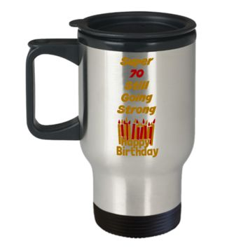 70th Birthday Travel Coffee Mug Cup Birthday Gifts Stainless Steel Coffee Cup For Men  Women