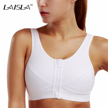 Women's Level 3 Support Front Zip Active Sports Bra 32 34 36 38 40 42 A B C D DD