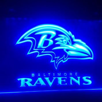 b-251 Baltimore Ravens beer bar pub club 3d signs LED Neon Light Sign man cave