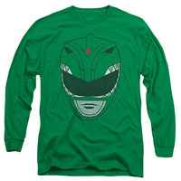 POWER RANGERS/GREEN RANGER-L/S ADULT 18/1-KELLY GREEN