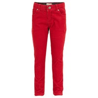 Red Needlecord Skinny Trousers