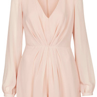 Pleat Front Playsuit - Topshop USA