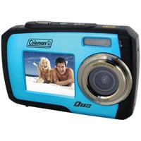 Coleman 14.0 Megapixel Duo Waterproof Dual Screen Digital Camera (blue)
