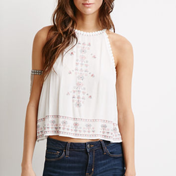 Tribal Pattern Embroidered Cami