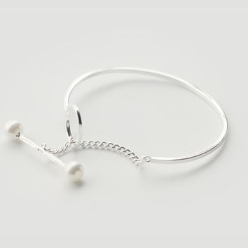 Simple Shell Pearl Pearl 925 sterling silver bracelet, a perfect gift