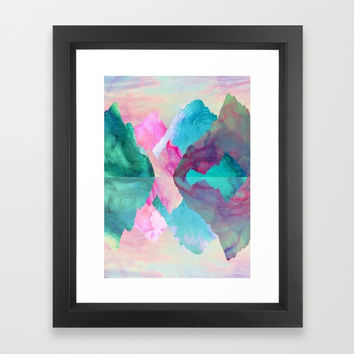 Society6 Iridescence Framed Print