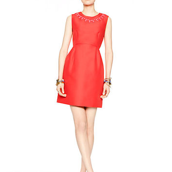 Kate Spade Embellished Mindy Dress Geranium