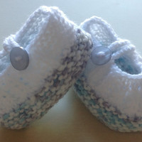 Hand knitted Baby Shoes, Newborn /Reborn Booties