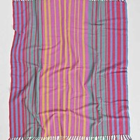 Magical Thinking Multi Stripe Throw Blanket- Multi One