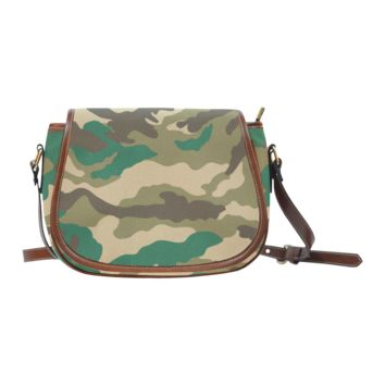 Women Shoulder Bag Woodland Camo Saddle Bag Large