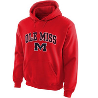 Ole Miss Rebels Midsize Arch Over Logo Hoodie – Cardinal