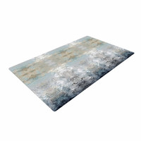 "Pia Schneider ""Heavenly Bird III"" Blue Pattern Woven Area Rug"