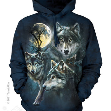 723309 Moon Wolves Collage Hoodie