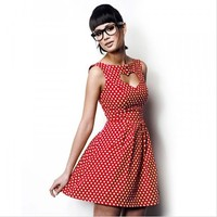 Red Polka Dot Heart Dress by How To: notthink