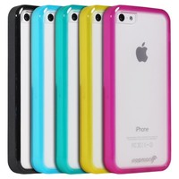 Fosmon HYBO-BUMPER Series PC + TPU Case for Apple iPhone 5C (Green)