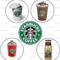"""Set of 5 STARBUCKS Pinback Buttons 1.25"""" Pins Coffee Lover"""