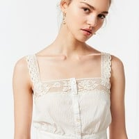 UO Jilly Ann Button-Down Lace Cami | Urban Outfitters