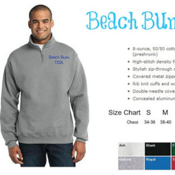 Personalized Mens Pullover Sweatshirt 1/4 Zip Custom Embroidery Christmas Gift Under 50 Dollars