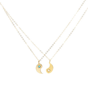 Yin + Yang BFF Necklace Set