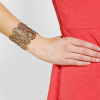 Urban Outfitters - Alkemie Peacock Feather Cuff Bracelet