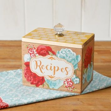 The Pioneer Woman Blossom Jubilee 6.2-Inch Recipe Box - Walmart.com