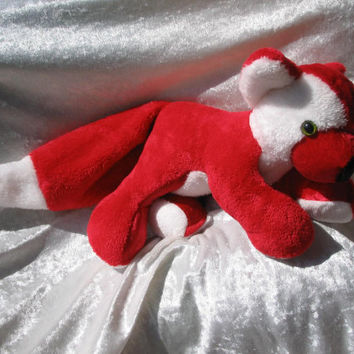Stuffed animal RED FOX plush stuffed fox plushie cuddly soft TOY fox red wolf plush animal handmade fox plush animal unique fox toy stuffed