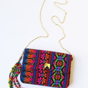 ETHNIC INDIAN BAG, Bohemian bag, Hippie bags, Gypsy bag, Tribal colorful cross body bag,Tribal pattern, sling Bag, India Bag