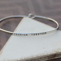 Forever Together Skinny Bangle Bracelet from Tinley Rose Accessories