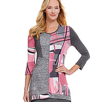 Multiples Patch-Print Sweater Tunic - Multi