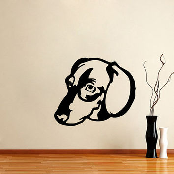 Vinyl Decal Dachshund Cute Dog Animal Pet Shop Housewares Home Wall Art Decor Stylish Sticker Unique Design for Any Room V597
