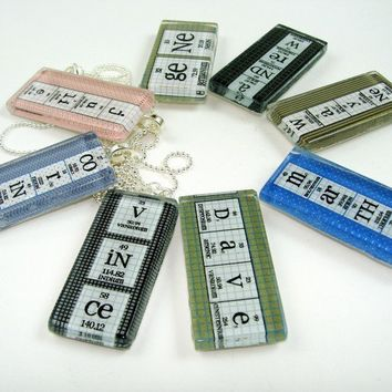 Personalized Periodic Table Necklace