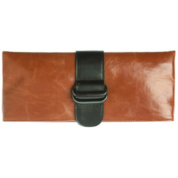 Shiraleah Harper Vegan Clutch Bold Orange Color