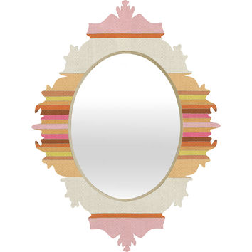 Bianca Green Fiesta Rose Baroque Mirror