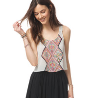 Aeropostale  Womens Sheer Southwest Strappy Crop Tank Top