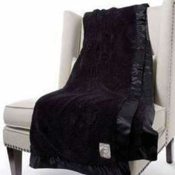 Chenille Solid Throw Onyx
