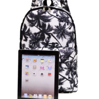 Fashion Printed Palm Tree Schol bag Backpack Students Traveling Bag